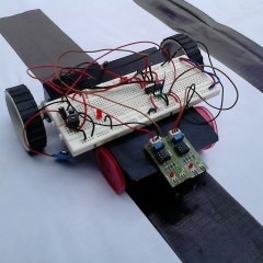 Black Line Following Robot without Microcontroller
